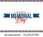 Stock vector vector illustration sale banner or poster of happy memorial day 412014799