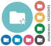 flat rank folder icon set on...
