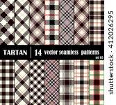 set tartan seamless pattern.... | Shutterstock .eps vector #412026295