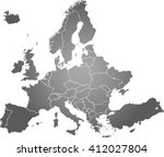 map of europe | Shutterstock .eps vector #412027804