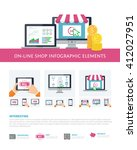 on line shopping infographic...