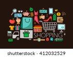 vector illustration of flat... | Shutterstock .eps vector #412032529