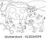 At The Farm. Farm Animals. Cut...