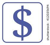 dollar icon | Shutterstock .eps vector #412035694