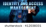 business manager is touching... | Shutterstock . vector #412038331