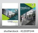 green triangle annual report...   Shutterstock .eps vector #412039144