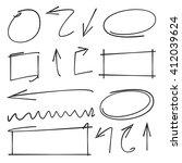arrows circles abstract... | Shutterstock .eps vector #412039624