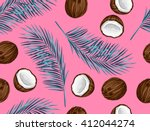 Seamless Pattern With Coconuts. ...