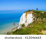 White Chalk Cliffs And Aerial...