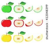 vector apple red  yellow  green.   Shutterstock .eps vector #412048399