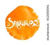 abstract summer lettering...   Shutterstock .eps vector #412050541