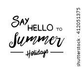 summer time logo templates.... | Shutterstock .eps vector #412051375