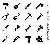vector illustration. icon set... | Shutterstock .eps vector #412053175