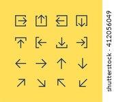 abstract vector arrow pictogram ... | Shutterstock .eps vector #412056049