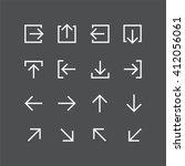 abstract vector arrow pictogram ... | Shutterstock .eps vector #412056061