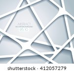 abstract white minimalistic... | Shutterstock .eps vector #412057279