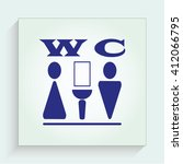 symbols inlet to the toilet ... | Shutterstock .eps vector #412066795