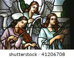 Angels Musicans  Stained Glass