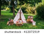 picnic scenery   Shutterstock . vector #412072519