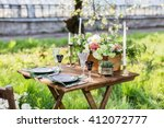 wedding decor. table for the... | Shutterstock . vector #412072777