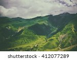green caucasus  mountain... | Shutterstock . vector #412077289