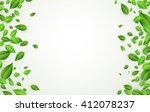 white background with fresh... | Shutterstock .eps vector #412078237