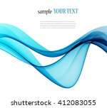abstract color wave image on a... | Shutterstock .eps vector #412083055