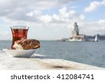 Turkish Tea And Bagel Against...