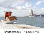 Turkish Tea And Bagel Against...