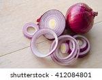 Sliced Fresh Purple Onion...