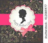 mother's day card. cute vintage ... | Shutterstock .eps vector #412085977