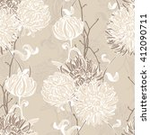 floral background. seamless... | Shutterstock .eps vector #412090711