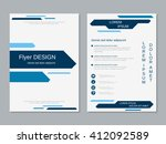 brochure cover vector template. ... | Shutterstock .eps vector #412092589