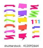 set of banner on white... | Shutterstock .eps vector #412092664
