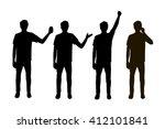 vector illustration of four men ... | Shutterstock .eps vector #412101841