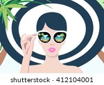 abstract portrait of a girl on... | Shutterstock .eps vector #412104001
