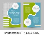 vector flyer template design....   Shutterstock .eps vector #412114207