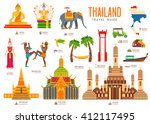 country thailand travel... | Shutterstock .eps vector #412117495