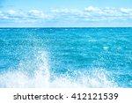 Big Wave On The Blue Sea. Surf...