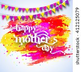 happy mother's day    Shutterstock .eps vector #412125079