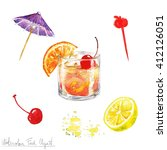 Watercolor Food Clipart   Old...
