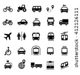 set of transportation icons.... | Shutterstock .eps vector #412126111