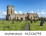 Small photo of St Aidans church in Bamburgh Northumberland the cemetery where Grace Darling is buried
