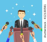 interview. vector illustration. ... | Shutterstock .eps vector #412130581