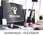 problems afraid anxious nervous ... | Shutterstock . vector #412132624