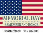 happy memorial day greeting... | Shutterstock .eps vector #412132681