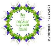 best grape round frame. the...   Shutterstock .eps vector #412142575