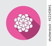 flower icon. dahlia  aster ...
