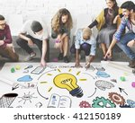 project management strategy... | Shutterstock . vector #412150189