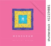 monogram icon in material...